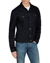 Armani Jeans Slim Jacket in Stretch Denim - Lyst