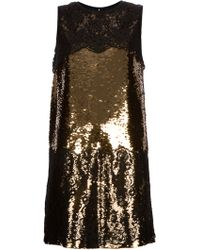 Dolce & Gabbana Lace Sequinned Dress - Lyst