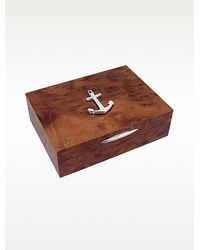 FORZIERI - Anchor Sterling Silver Wood Jewelry Box - Lyst