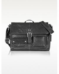 Fossil - Leather Messenger Bag - Lyst