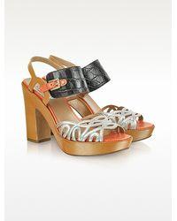 Fratelli Rossetti - Chimera Multicolor Leather Platform Sandals - Lyst