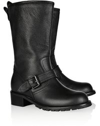 Giuseppe Zanotti Textured Leather Midcalf Boots - Lyst