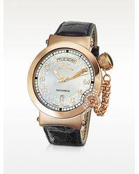 John Galliano - Lelu Mens Diamond Rose Gold Plated Automatic Watch - Lyst