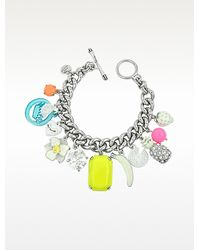 Juicy Couture - White Fruit Charm Bracelet - Lyst