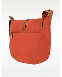 La Bagagerie - Bercy Flat Canvas Shoulder Bag - Lyst