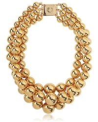 MICHAEL Michael Kors - Modern Classic Gold Plated Bead Necklace - Lyst