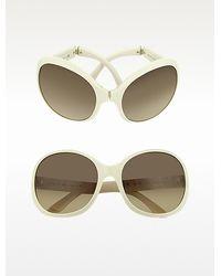 Prada Large Round Foldable Sunglasses - Lyst
