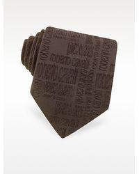 Roberto Cavalli - Allover Signature Solid Woven Silk Tie - Lyst