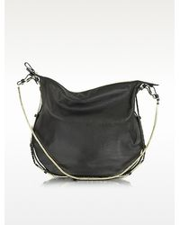 Valentino Nappa Leather And Metal Hobo Bag - Lyst