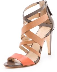 Vera Wang Hinda Strappy Sandals orange - Lyst