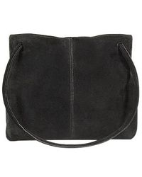 Fontanelli Black And Yellow Reversible Suede Tote Bag