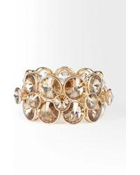 Bebe - Multi Faceted Glam Stretch Bracelet - Lyst