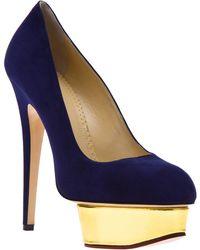 Charlotte Olympia 'Dolly' Pump blue - Lyst