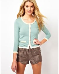 Darling - Cardigan with Pearl Detailing - Lyst