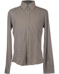 Armani Jeans Long Sleeve Shirts - Grey