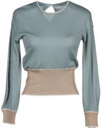 Prada Long Sleeve Sweaters blue - Lyst