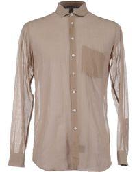 Ring Long Sleeve Shirts - Brown