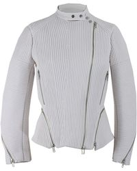 3.1 Phillip Lim Corded Motorcycle Jacket - Lyst