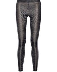 Aminaka Wilmont Printed Satin-Jersey Leggings - Lyst