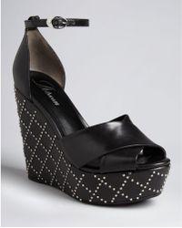 Delman - Open Toe Platform Wedge Sandals Pilar - Lyst