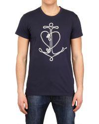 Dior Anchor Print T-Shirt - Blue