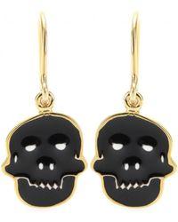 House of Waris - Skull Drop Earrings - Lyst