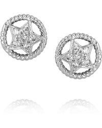 Ileana Makri Sheriff 18karat White Gold Diamond Stud Earrings white - Lyst
