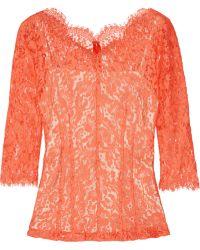 Lover - Millie Cotton Blend Lace Top - Lyst