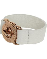 Marc By Marc Jacobs Large Turnlock Leather Bracelet - Lyst