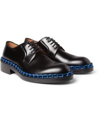 Raf Simons Chaintrimmed Leather Derby Shoes - Lyst