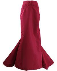 Zac Posen - Twisted Seam Long Skirt - Lyst