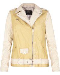 AllSaints Harper Leather Biker Jacket - Lyst