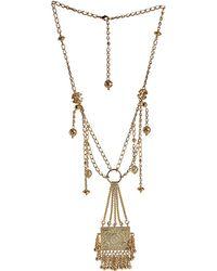 Blumarine Multi Chain Necklace with Pendant - Metallic