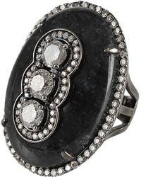 Bochic | Blackjade and Diamond Ring | Lyst