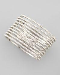 Chamak by Priya Kakkar - Set Of 10 Thin Crystal Bangles - Lyst