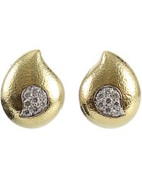 David Webb | Diamond Paisley Raindrop Earrings | Lyst