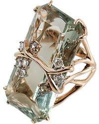Federica Rettore | Antique Cut Green Prasiolite Ring | Lyst