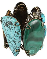 Iradj Moini Malachine Turquoise and Tiger Eye Bracelet - Blue