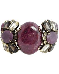 Iradj Moini Triple Ruby Bracelet with Topaz - Purple
