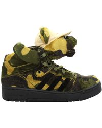 Jeremy Scott for Adidas Camouflage Bear High Top Sneaker Green - Lyst