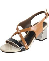 Marni Strappy Colour Block Sandals - Blue