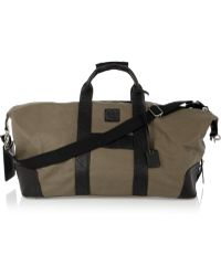 McQ Leather Trimmed Canvas Weekend Bag - Green