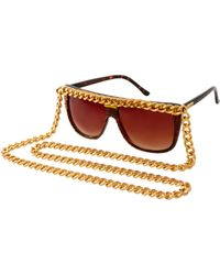 A-morir Amorir Lovehate Chain Glasses - Brown