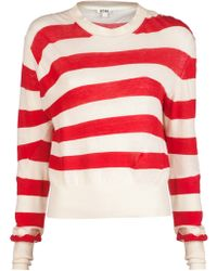 Acne Studios Lia Stripe Crew Sweater - Lyst