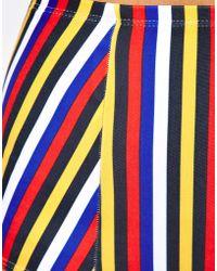 American Apparel Stripe Tricot High Waist Bikini Brief - Multicolor