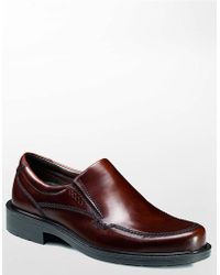 Ecco Boston Leather Loafers - Brown