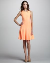Halston Heritage Ponte Knit Dress with Flared Skirt - Lyst