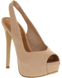 Office Off You Go Nude Nubuck - Natural