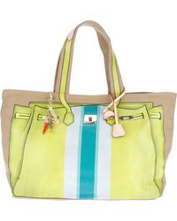 V73 Printed Canvas Tote - Lyst
