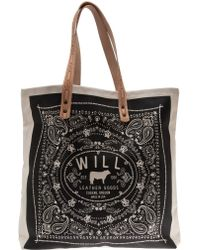 Will Leather Goods - Bandana Carry All Canvas Tote Bag - Lyst